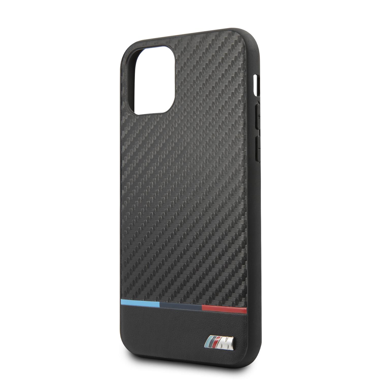 BMW M Carbon Tricolore zadní kryt BMHCN65PUCARTCBK pro Apple iPhone 11 Pro Max black