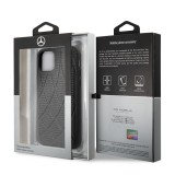 Mercedes Perforated Leather zadní kryt MEHCN61DIQBK pro Apple iPhone 11 black
