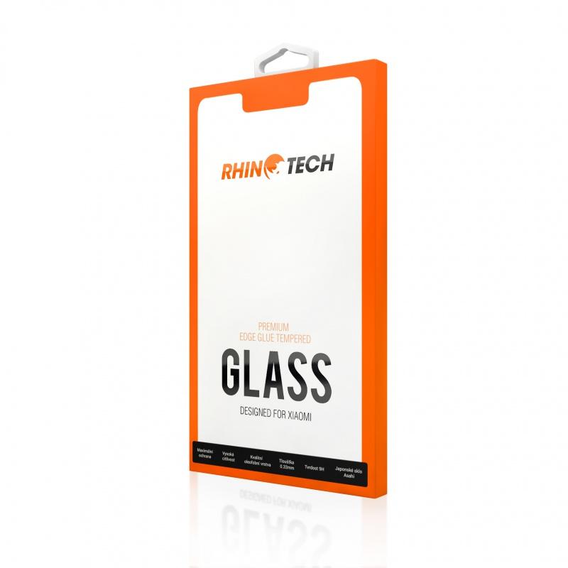 RhinoTech 2 tvrzené ochranné 2.5D sklo pro Xiaomi Redmi Note 8 Pro (Edge Glue), black