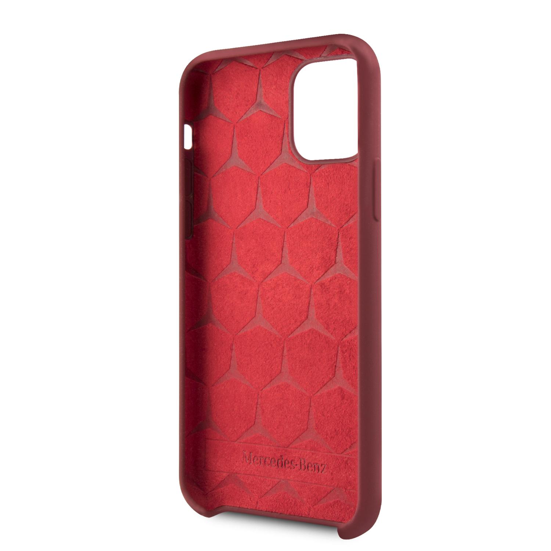 Mercedes Liquid silikonový kryt MEHCN65SILRE pro Apple iPhone 11 Pro Max red