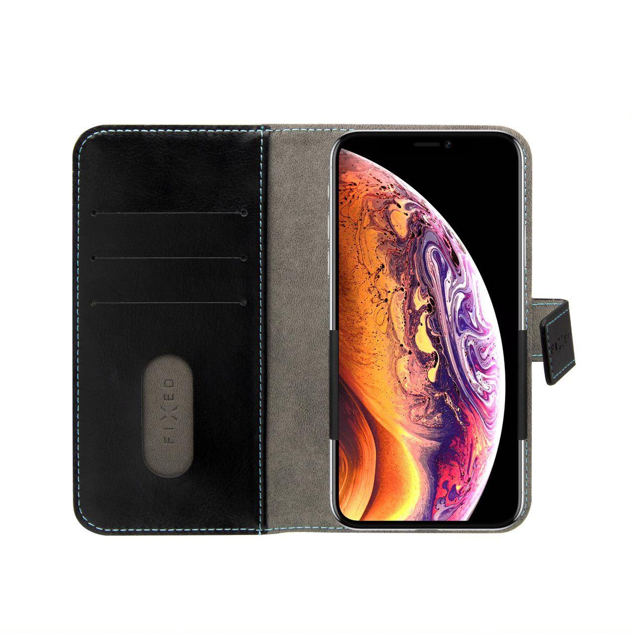 """o 5""""-5,7"""" telefony, PU kůže, černé"""
