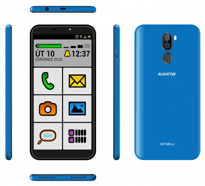 Aligator S5710 Senior Duo 2GB/16GB modrá