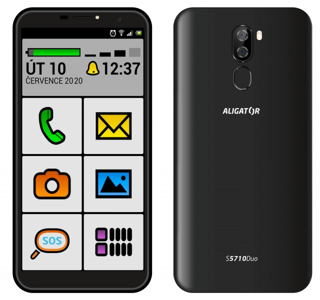 ALIGATOR S5710 SENIOR Duo 16GB černý