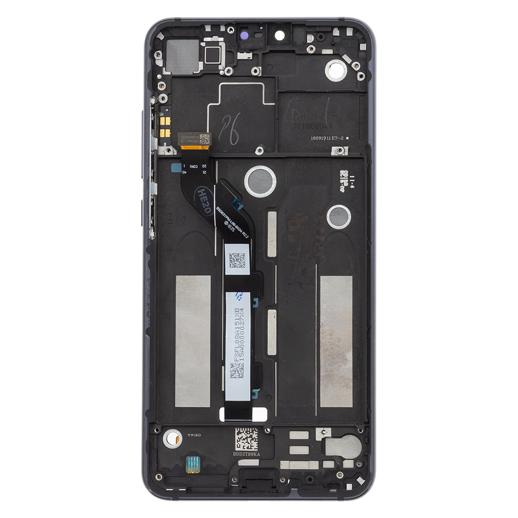 LCD + dotyk + přední kryt pro Xiaomi Mi 8 Lite, black (Service Pack)