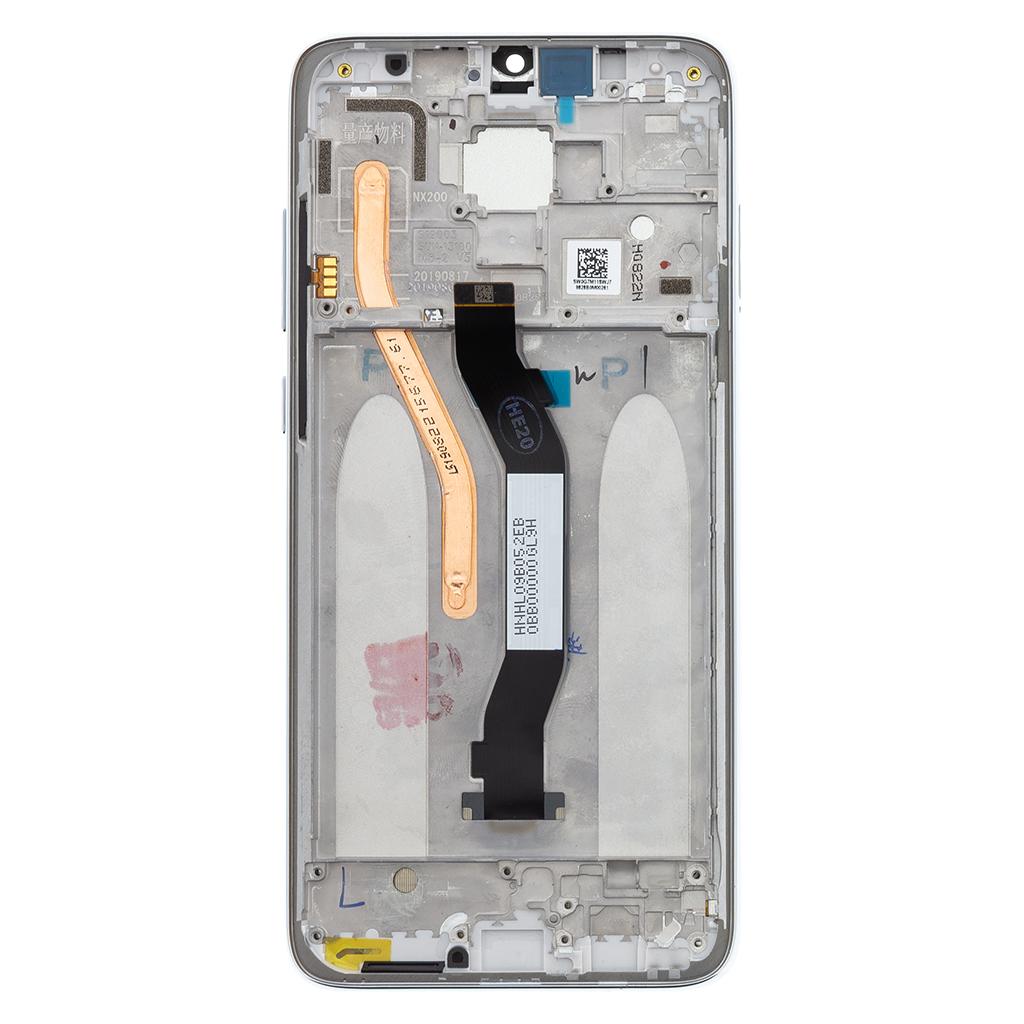 LCD + dotyk + přední kryt pro Xiaomi Redmi Note 8 Pro, white (Service Pack)