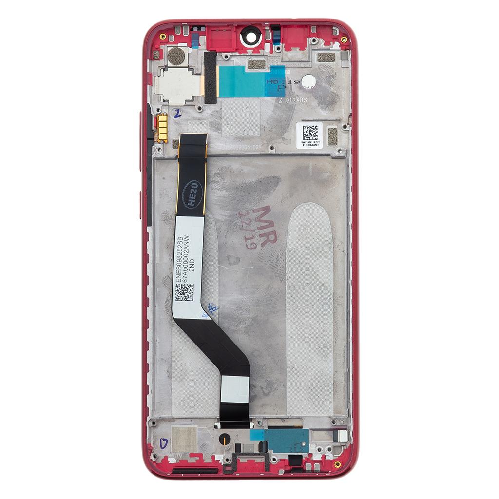LCD + dotyk + přední kryt pro Xiaomi Redmi Note 7, red (Service Pack)