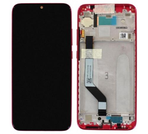 LCD + dotyk + rámeček pro Xiaomi Redmi Note 7, red (Service Pack)