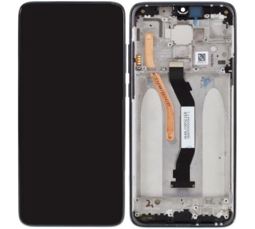 LCD + dotyk + přední kryt pro Xiaomi Redmi Note 8 Pro, black (Service Pack)