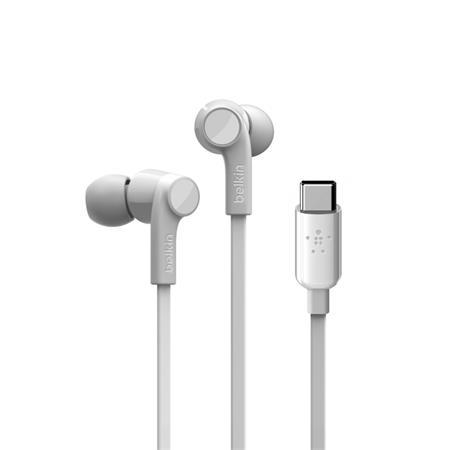 In-ear sluchátka Belkin Rockstar, USB-C, bílá