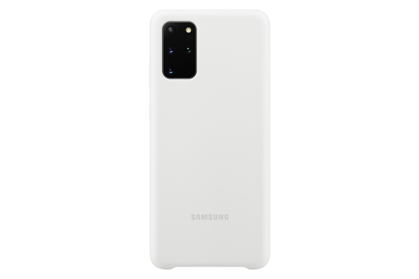 Silikonové pouzdro Silicone Cover EF-PG985TWEGEU pro Samsung Galaxy S20 plus, bílá