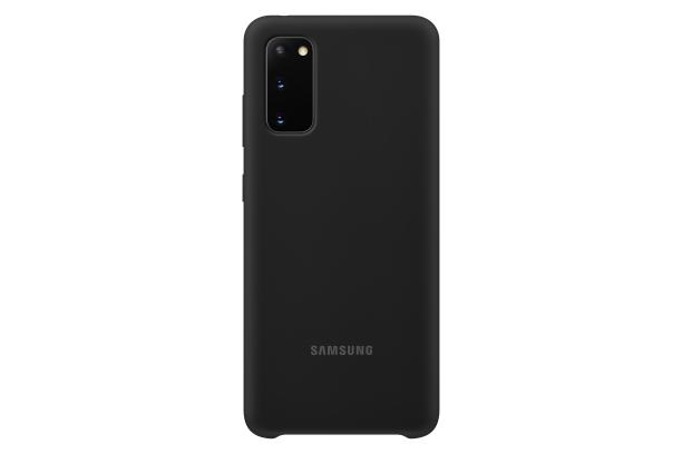 Silikonové pouzdro Silicone Cover EF-PG980TBEGEU pro Samsung Galaxy S20, černá