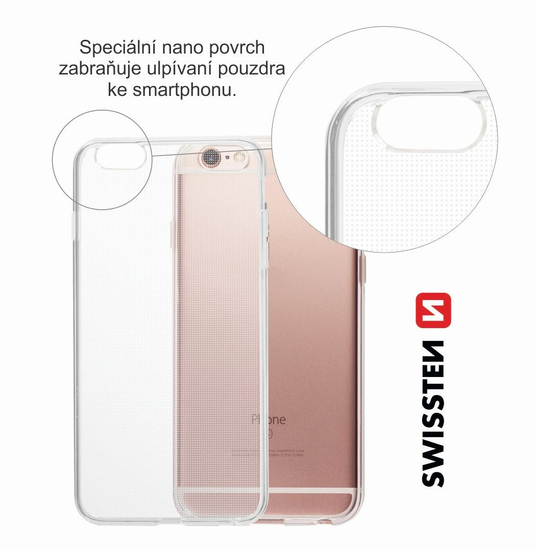 Pouzdro Swissten Clear Jelly Xiaomi Redmi Note 8T, transparentní