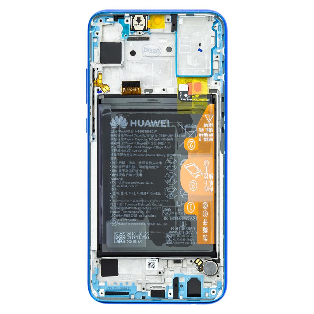 LCD + dotyk + přední kryt pro Honor 20 Lite, blue (Service Pack)