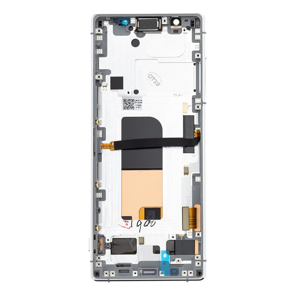 LCD + dotyk + přední kryt pro Sony Xperia 5, grey (Service Pack)