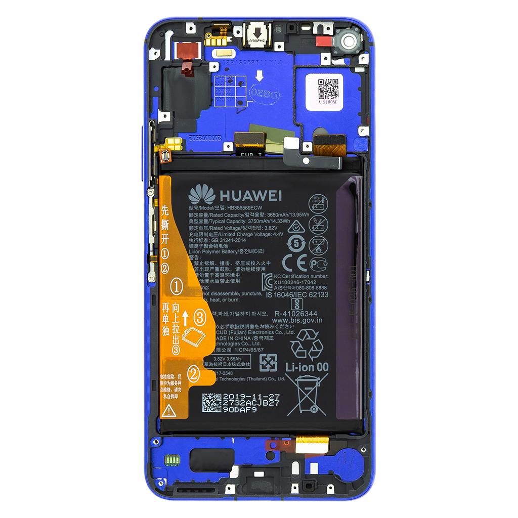 LCD + dotyk + přední kryt pro Honor 20, blue (Service Pack)