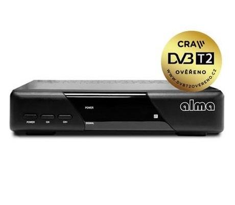 Set top box ALMA 2820 DVB-T/T2/ Full HD/ H.265/HEVC/ CRA ověřeno/ PVR/ EPG/ HDMI/ USB/ SCART/ černý