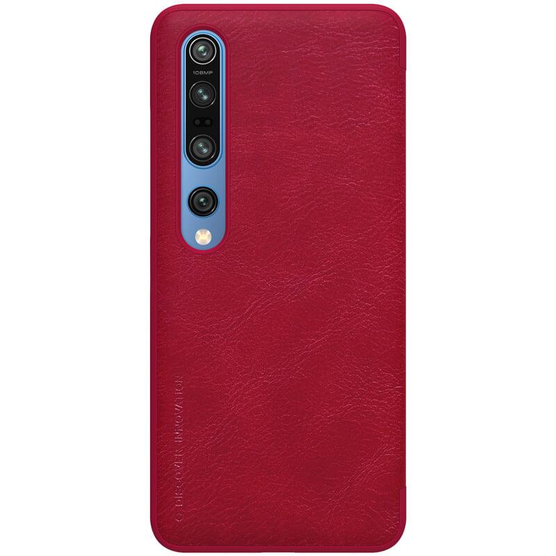 Flipové pouzdro Nillkin Qin Book pro Xiaomi Mi 10/10 Pro, červená