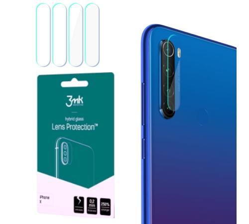 Hybridní sklo 3mk Lens ochrana kamery pro Xiaomi Redmi Note 8T, (4ks)