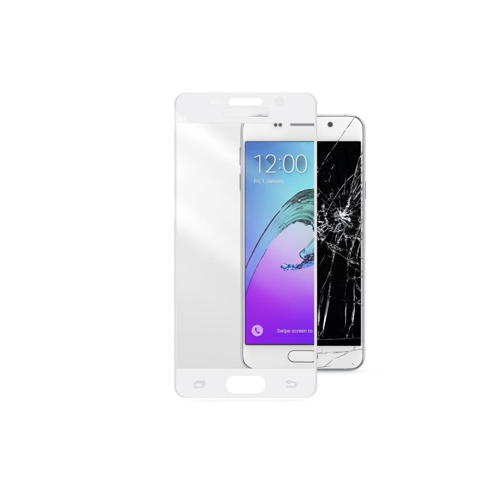 Ochranné tvrzené sklo pro Cellularline Capsule pro Samsung Galaxy A5 2016, bílé