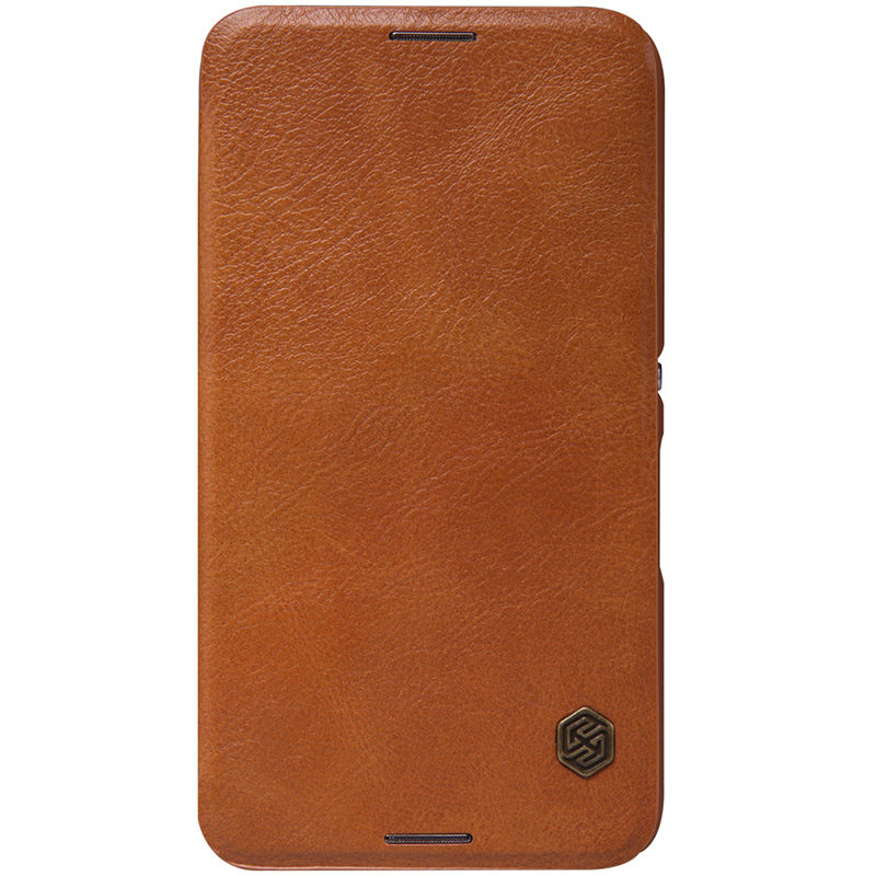 Flipové pouzdro Nillkin Qin Book pro Xiaomi Redmi Note 9 Pro/9S/9 Pro Max, hnědá