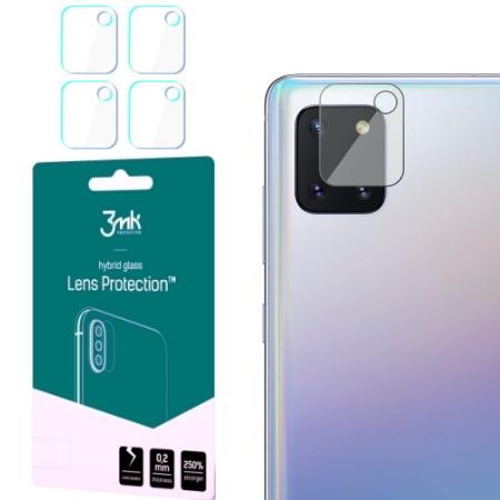 Hybridní sklo 3mk Lens ochrana kamery pro Samsung Galaxy Note 10 Lite, 4ks