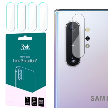 Hybridní sklo 3mk Lens ochrana kamery pro Samsung Galaxy Note 10 Plus, 4ks