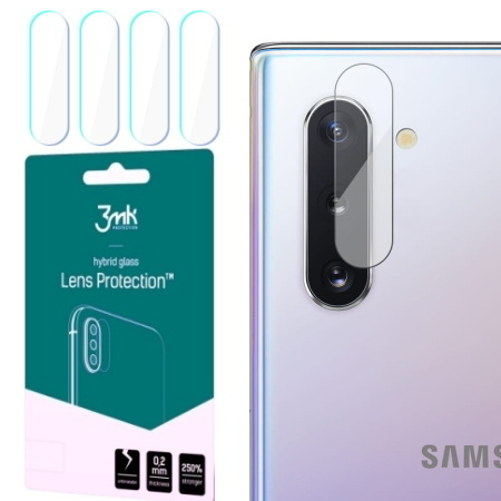 Hybridní sklo 3mk Lens ochrana kamery pro Samsung Galaxy Note 10, 4ks