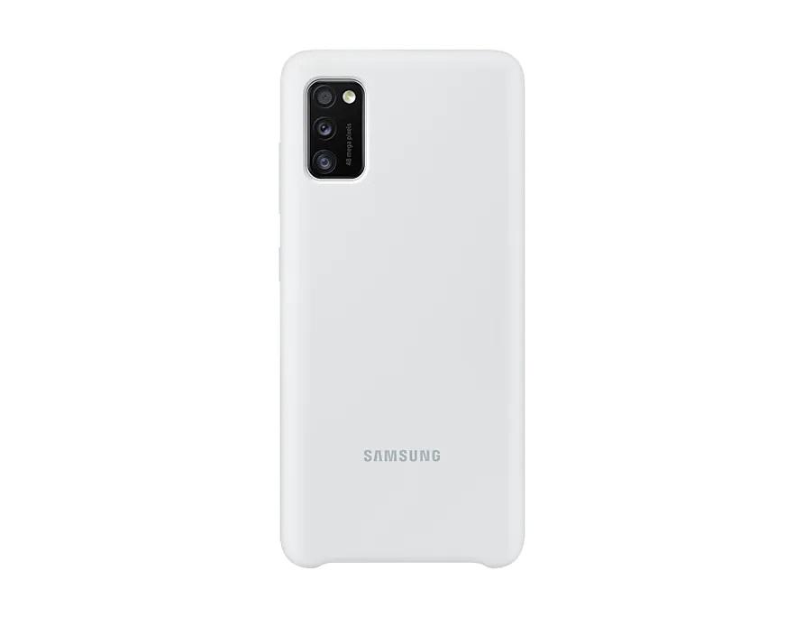 Silikonové pouzdro Silicone Cover EF-PA415TWEGEU pro Samsung Galaxy A41, bílá