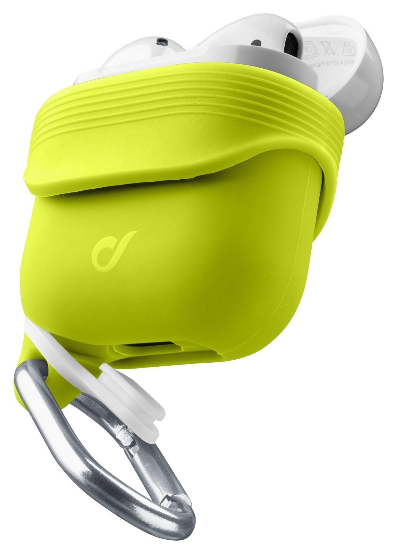 Cellularline Sprint silikonový kryt pro Apple AirPods 1&2 s držákem sluchátek, zelený