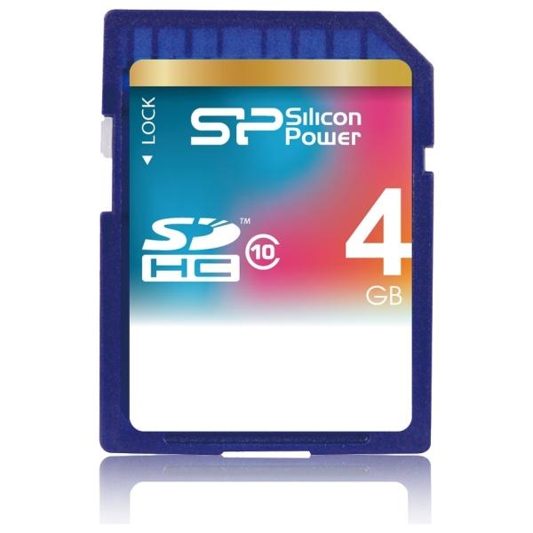 Silicon Power Paměťová karta SDHC Class 10, 4GB