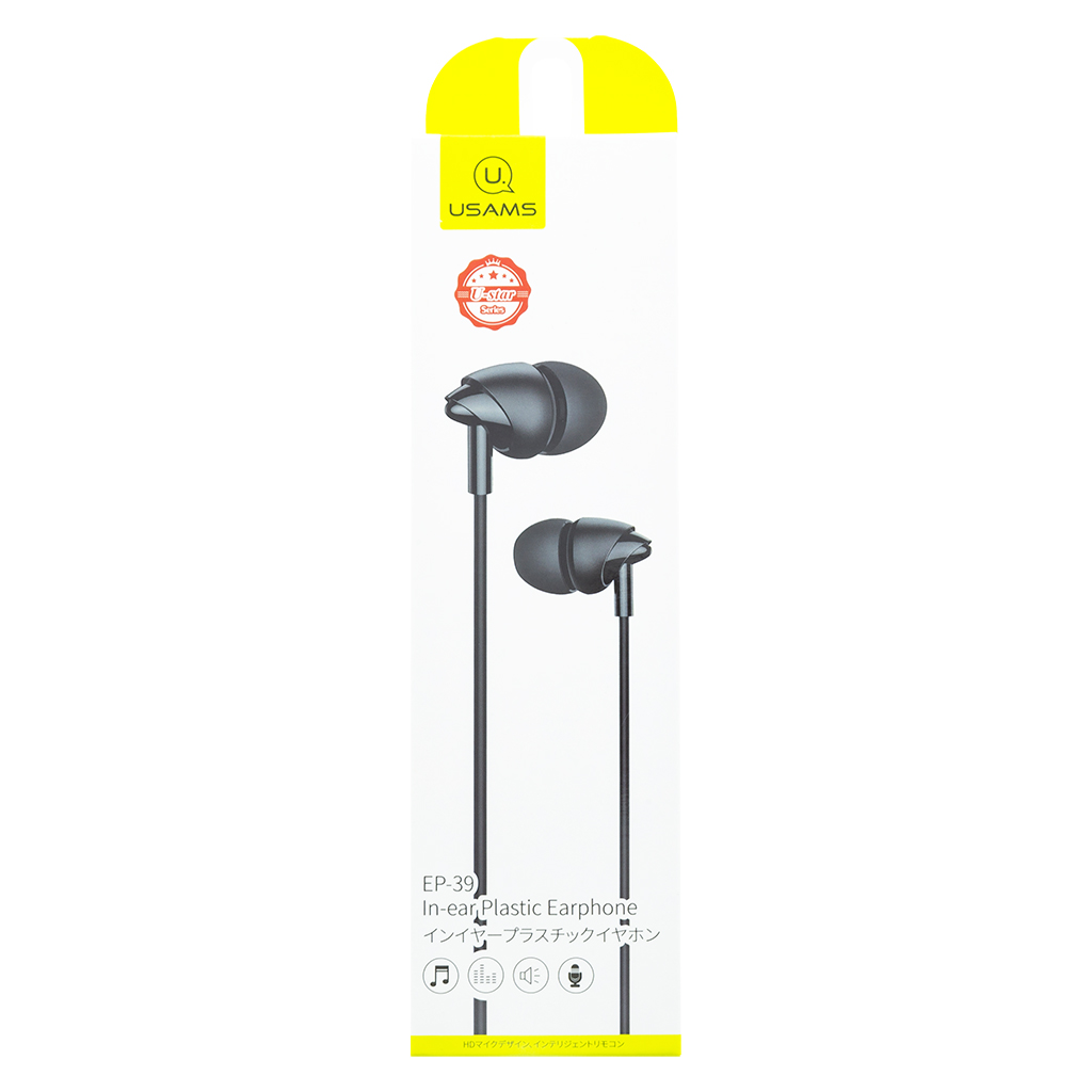 USAMS EP-39 In-Ear Stereo Headset 3,5mm black