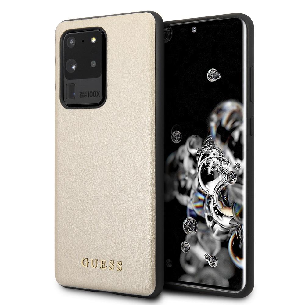 Guess Iridescent zadní kryt GUHCS69IGLGO Samsung Galaxy S20 Ultra gold