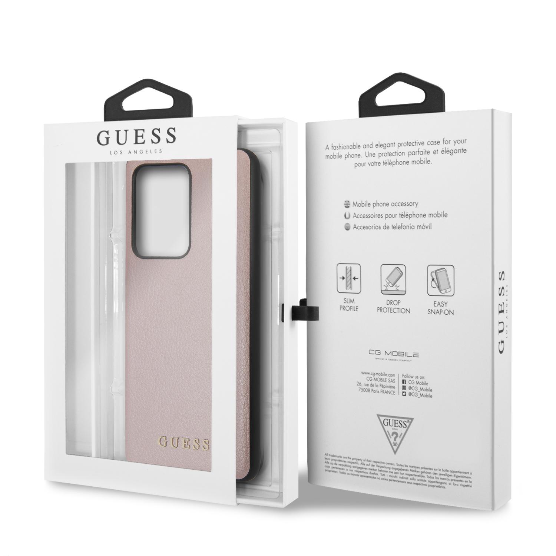 Guess Iridescent zadní kryt GUHCS69IGLRG Samsung Galaxy S20 Ultra rose