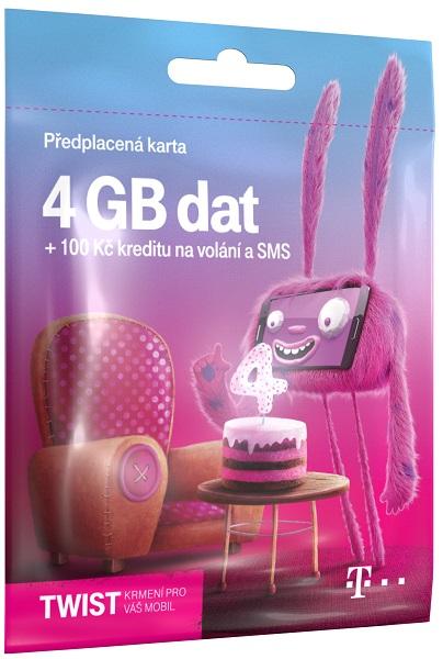 T-Mobile SIM Twist S námi, 4GB