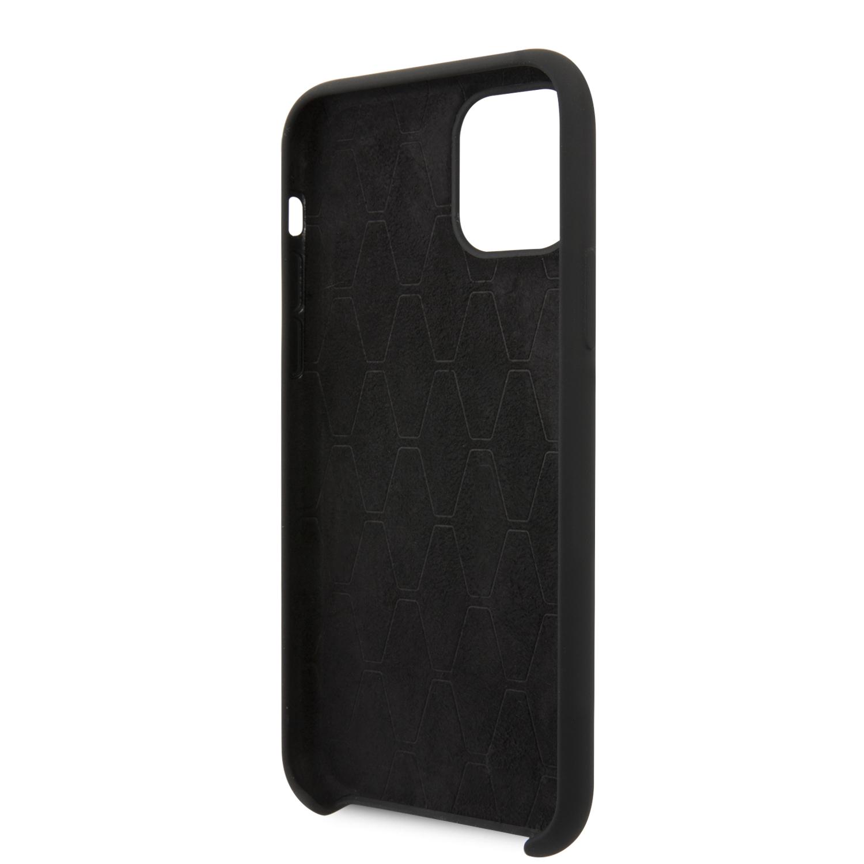 BMW Vertical Sripe silikonový kryt BMHCN61SITLBK pro Apple iPhone 11 black