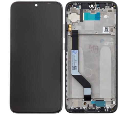 LCD + dotyk + rámeček pro Xiaomi Redmi Note 7, black (Service Pack)