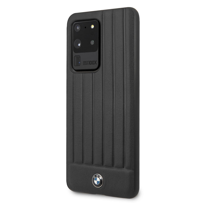 BMW Leather Lines zadní kryt BMHCS69POCBK Samsung Galaxy S20 Ultra black