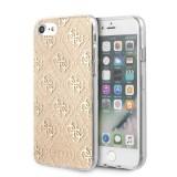 Guess Glitter 4G Solid zadní kryt GUHCI8PCU4GLGO Apple iPhone 8/SE 2020 gold