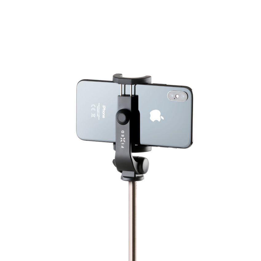 Selfie tyč FIXED Snap Lite s tripodem a bezdrátovou spouští, černá