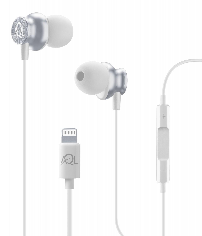 Cellularline Whirl In-ear sluchátka s Lightning konektorem, AQL, MFI, bílá