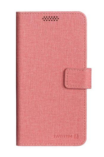 SWISSTEN LIBRO UNI flipové pouzdro L růžové (148x71 mm)