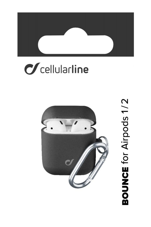 Cellularline Bounce silikonový kryt pro Apple AirPods 1 & 2, černý