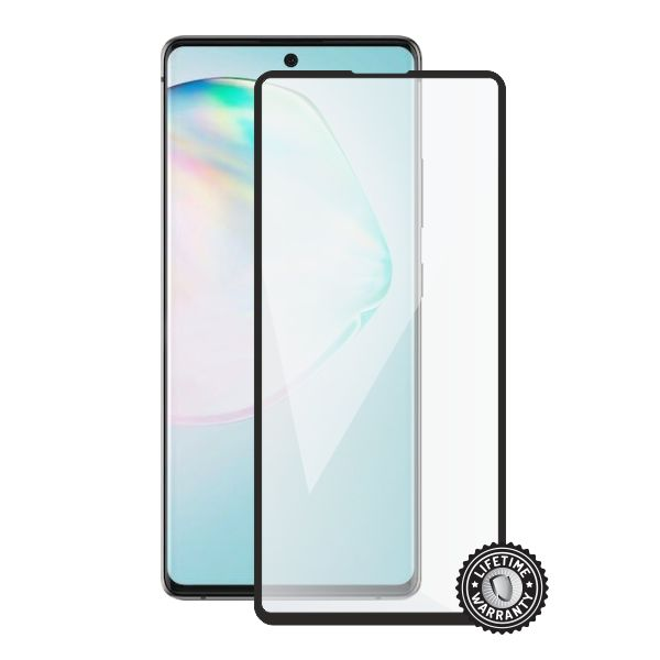 Screenshield tvrzené sklo pro Samsung Galaxy A91 protection full COVER, černá