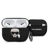Karl Lagerfeld silikonový kryt pro Apple Airpods Pro blackle Airpods Pro, Black