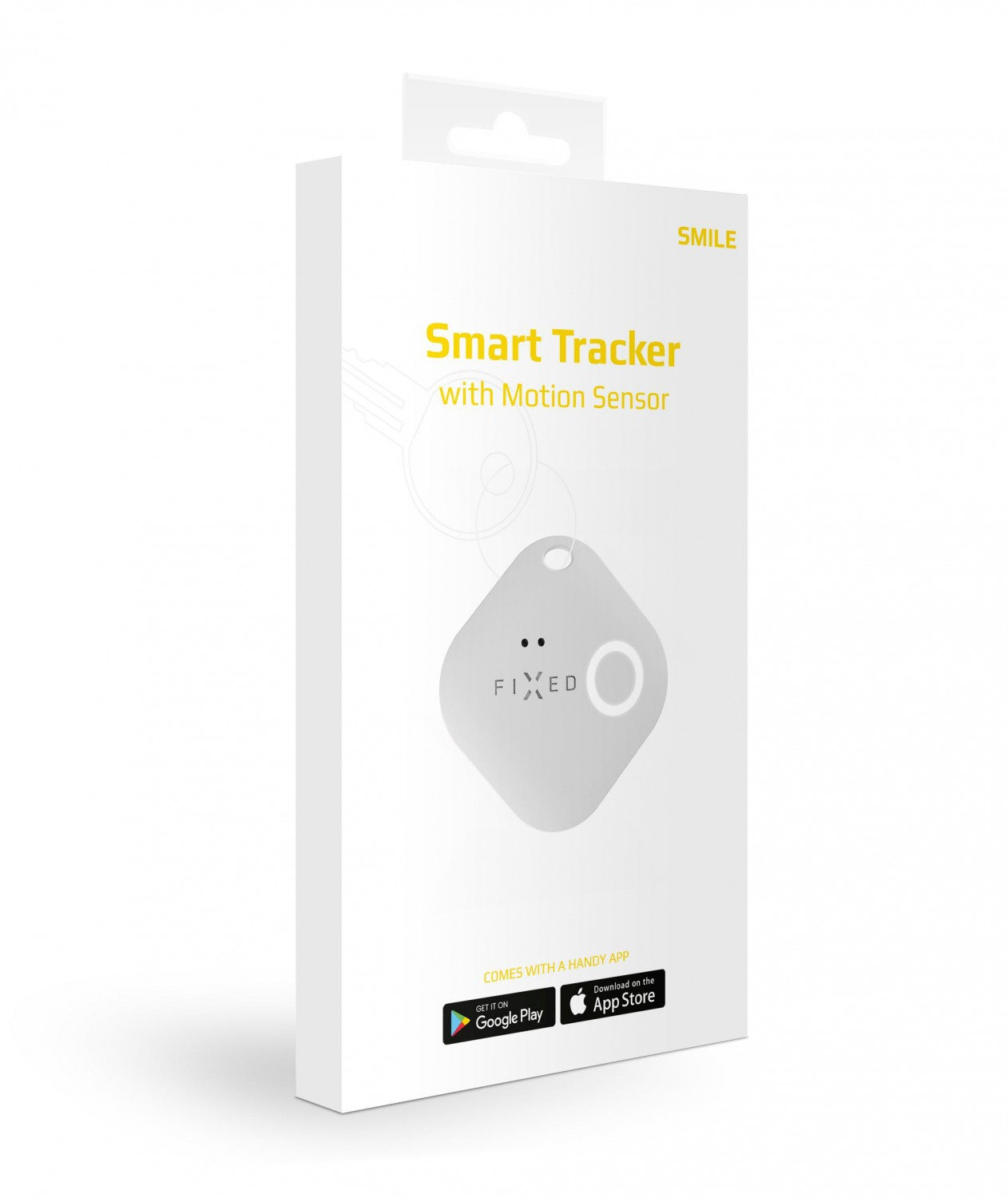 Smart tracker FIXED Smile s motion senzorem, bílý