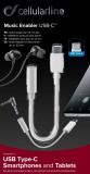 Adaptér Cellularline Music Enabler z konektoru USB-C na 3,5 mm jack, bílá