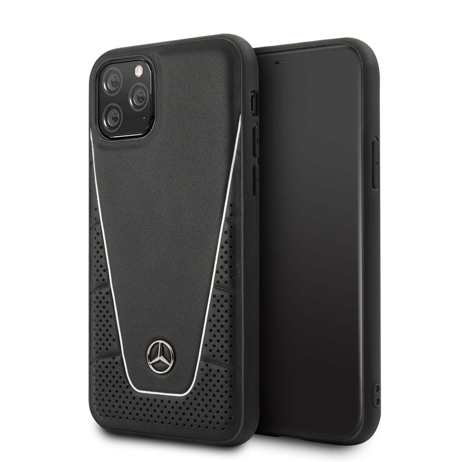 Mercedes Quilted Smooth kožený kryt MEHCN58CLSSI Apple iPhone 11 Pro blackuilted Smooth Kryt pro iPhone 11 Pro Black