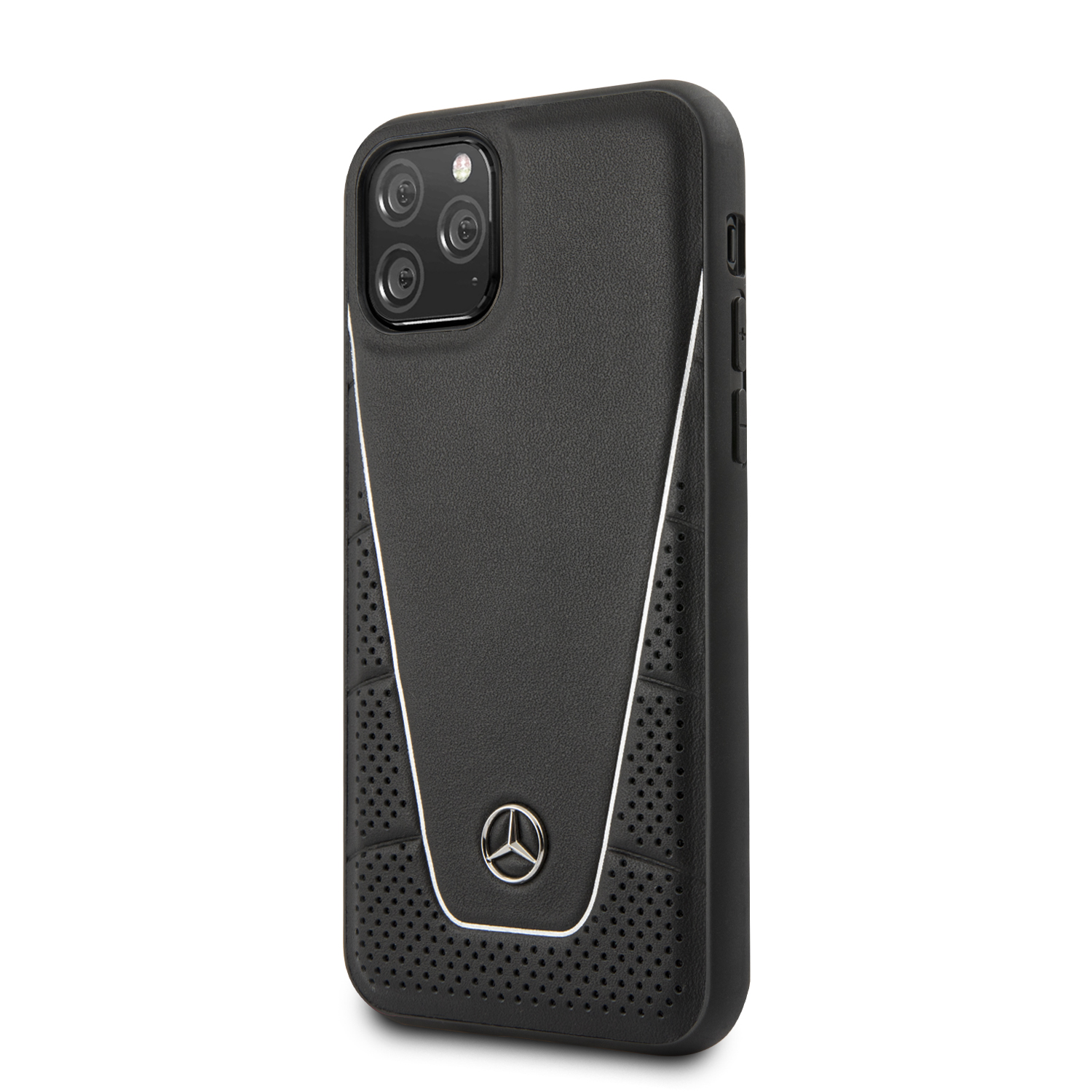 Mercedes Quilted Smooth kožený kryt MEHCN58CLSSI Apple iPhone 11 Pro black