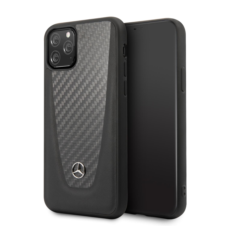 Mercedes Carbon Fiber Zadní kryt MEHCN61ACABK Apple iPhone 11 black