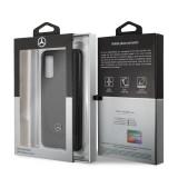 MEHCS62ARMBK Mercedes Perforation Kryt pro Samsung Galaxy S20 Black